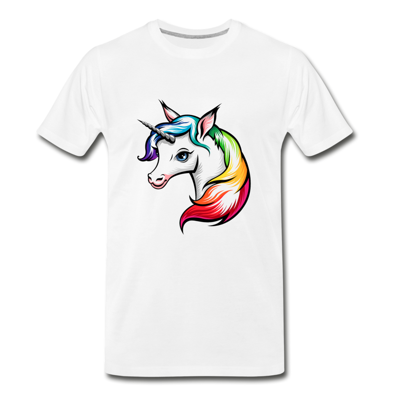 Rainbow Unicorn Premium T-Shirt - white