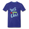 Yes You Can Premium T-Shirt - royal blue