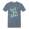 Yes You Can Premium T-Shirt - steel blue