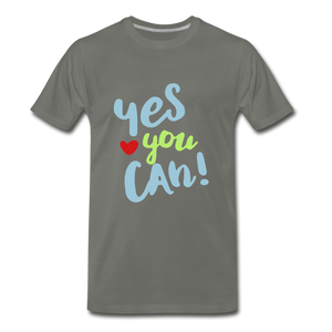 Yes You Can Premium T-Shirt - asphalt gray