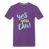 Yes You Can Premium T-Shirt - purple