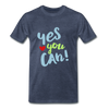 Yes You Can Premium T-Shirt - heather blue