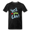 Yes You Can Premium T-Shirt - charcoal gray