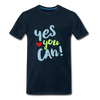 Yes You Can Premium T-Shirt - deep navy