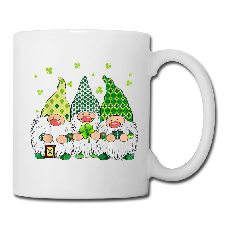 St. Patrick Gnome Trio 2 Coffee/Tea Mug - white