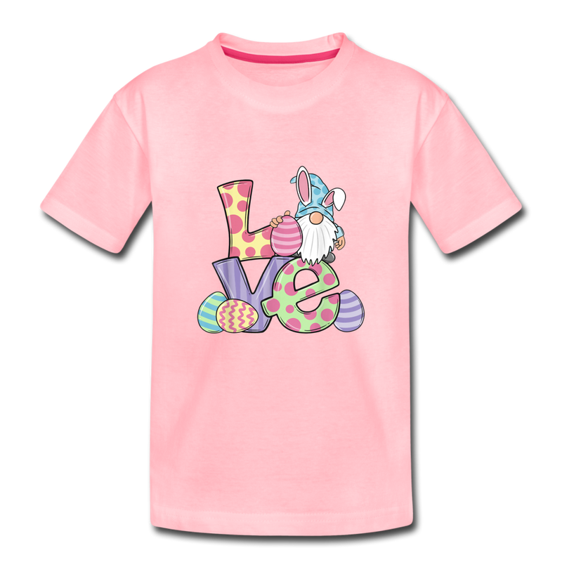 Gnome Easter Love Toddler Premium T-Shirt - pink