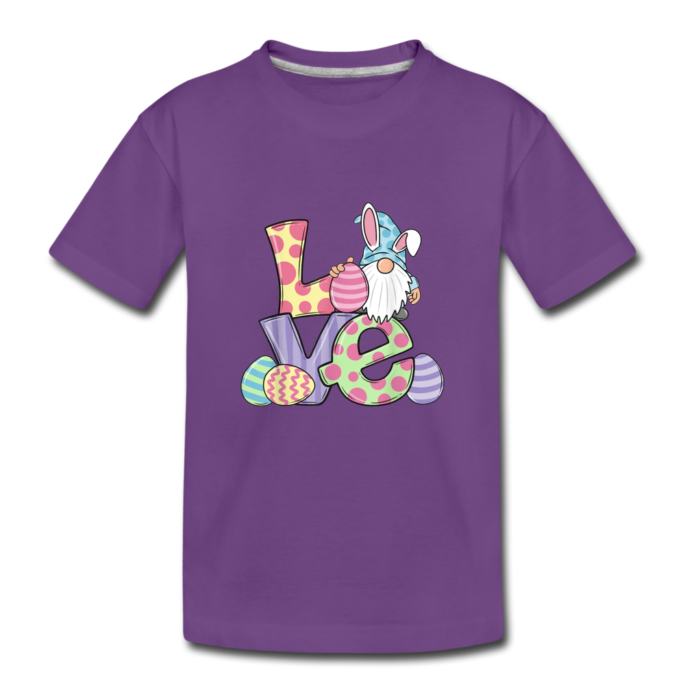 Gnome Easter Love Toddler Premium T-Shirt - purple