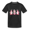 Easter Gnome Trio 2 Kids' Premium T-Shirt - black