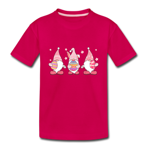 Easter Gnome Trio 2 Kids' Premium T-Shirt - dark pink