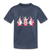 Easter Gnome Trio 2 Kids' Premium T-Shirt - heather blue