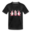 Easter Gnome Trio 2 Kids' Premium T-Shirt - charcoal gray