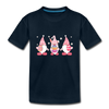 Easter Gnome Trio 2 Kids' Premium T-Shirt - deep navy