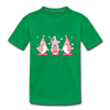 Easter Gnome Trio 2 Kids' Premium T-Shirt - kelly green
