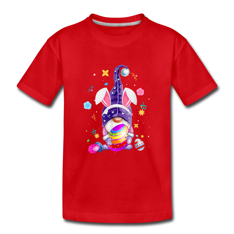 Easter Gnome Kids' Premium T-Shirt - red