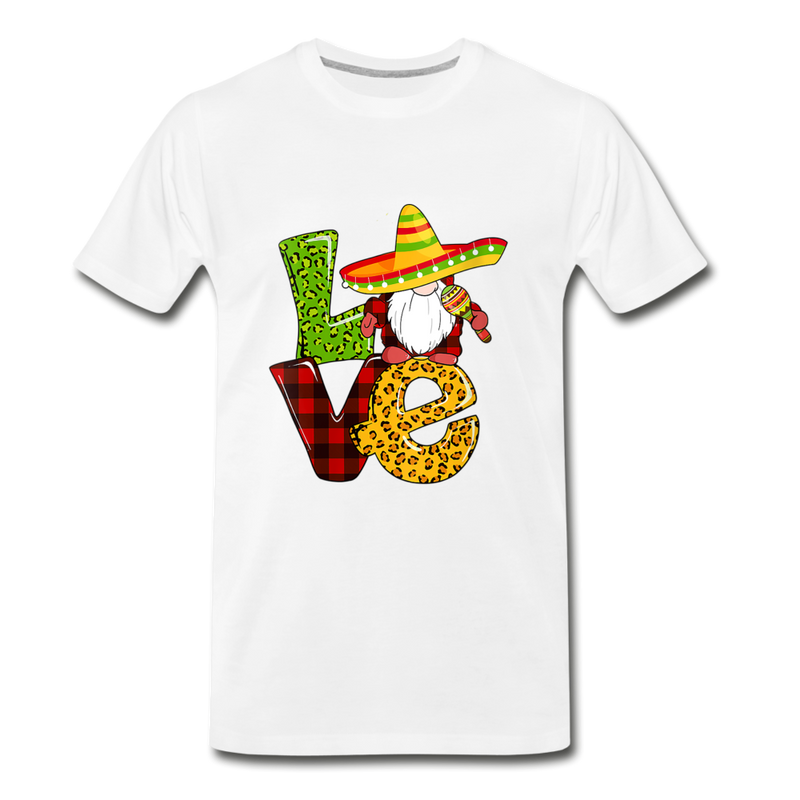 Gnome Love Cinco de Mayo Premium T-Shirt - white