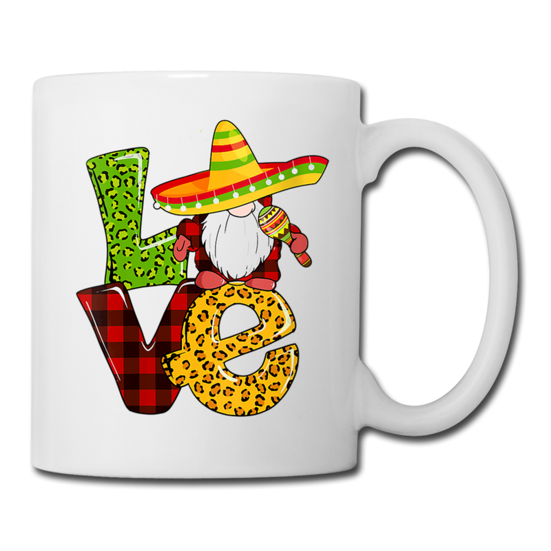 Gnome Love Cinco de Mayo Coffee/Tea Mug - white