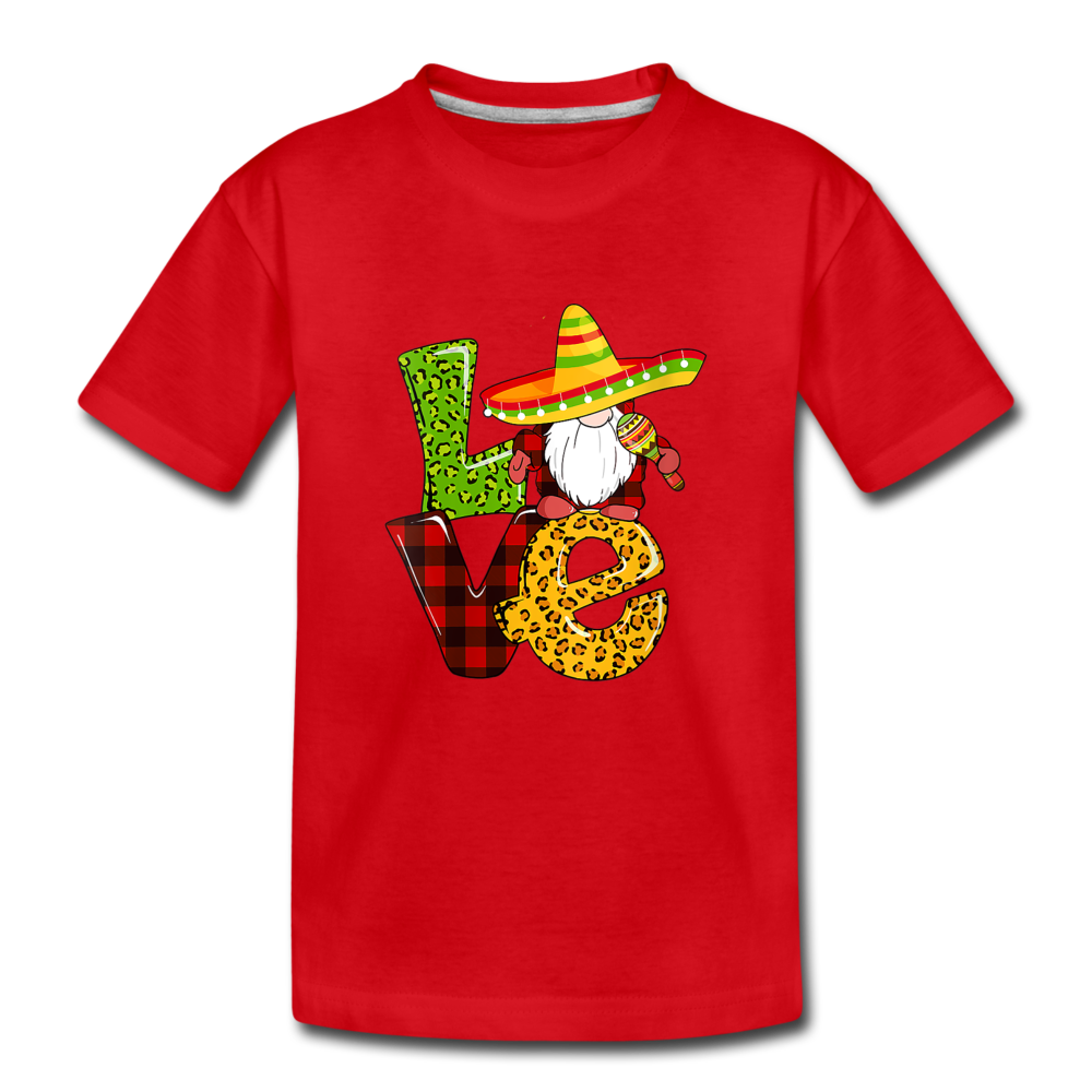 Gnome Love Cinco de Mayo Toddler Premium T-Shirt - red