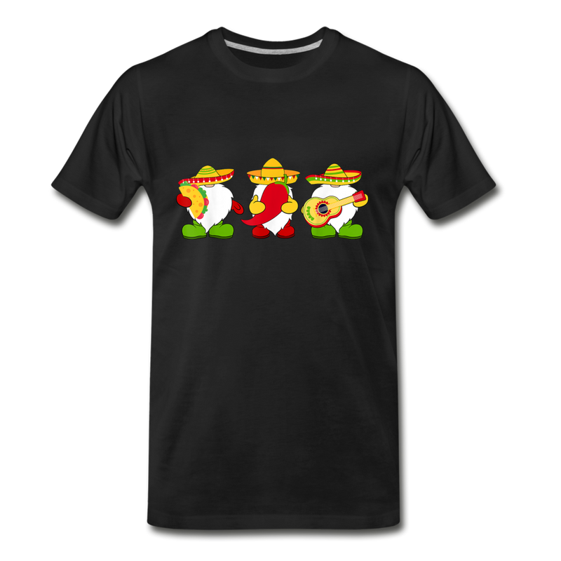 Gnome Cinco de Mayo Trio Men's Premium T-Shirt - black