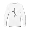 Faith Vertical Premium Long Sleeve T-Shirt - white