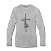 Faith Vertical Premium Long Sleeve T-Shirt - heather gray