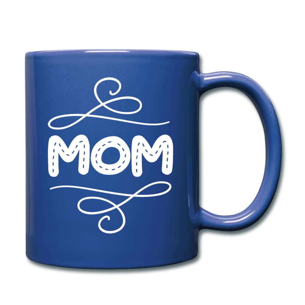 Mom Full Color Mug - royal blue