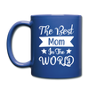 The Best Mom in the World Full Color Mug - royal blue