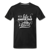 When Life Gives You More Than You Can Stand Kneel Premium T-Shirt - black