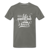 When Life Gives You More Than You Can Stand Kneel Premium T-Shirt - asphalt gray