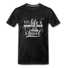 When Life Gives You More Than You Can Stand Kneel Premium T-Shirt - charcoal gray
