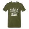 When Life Gives You More Than You Can Stand Kneel Premium T-Shirt - olive green