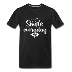 Smile Every Day Premium T-Shirt - black