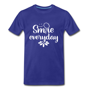 Smile Every Day Premium T-Shirt - royal blue
