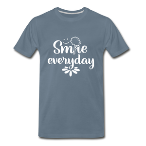 Smile Every Day Premium T-Shirt - steel blue