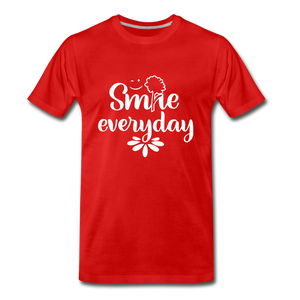 Smile Every Day Premium T-Shirt - red