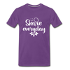 Smile Every Day Premium T-Shirt - purple