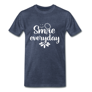 Smile Every Day Premium T-Shirt - heather blue