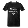 Smile Every Day Premium T-Shirt - charcoal gray