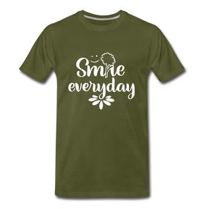Smile Every Day Premium T-Shirt - olive green
