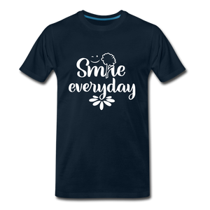 Smile Every Day Premium T-Shirt - deep navy