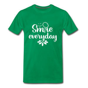 Smile Every Day Premium T-Shirt - kelly green