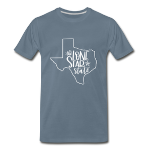 The Lone Star State Premium T-Shirt - steel blue