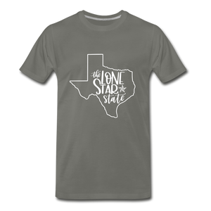 The Lone Star State Premium T-Shirt - asphalt gray