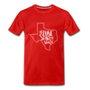 The Lone Star State Premium T-Shirt - red