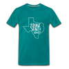 The Lone Star State Premium T-Shirt - teal