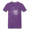 The Lone Star State Premium T-Shirt - purple