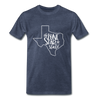 The Lone Star State Premium T-Shirt - heather blue