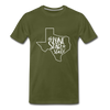 The Lone Star State Premium T-Shirt - olive green