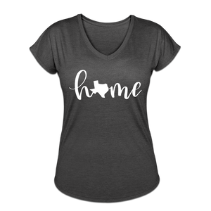 Texas Home Women's Tri-Blend V-Neck T-Shirt - deep heather