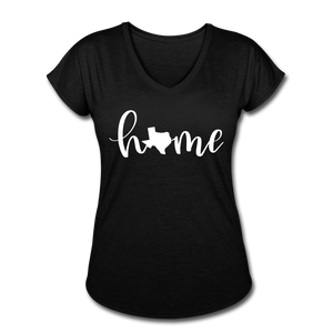 Texas Home Women's Tri-Blend V-Neck T-Shirt - black
