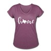 Texas Home Women's Tri-Blend V-Neck T-Shirt - heather plum